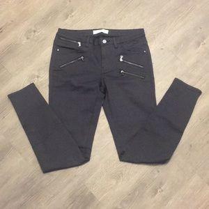 Zara grey Moto stretch skinny jeans